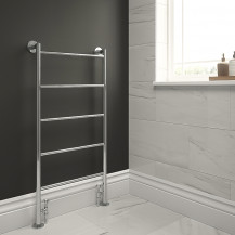 Buckden 1200 x 600mm Straight Heated Towel Rail