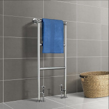 Kendall 1000 x 500mm Straight Chrome Heated Towel Rail