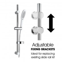 Orso Slider Rail Kit with Hand Shower (1 spray options)