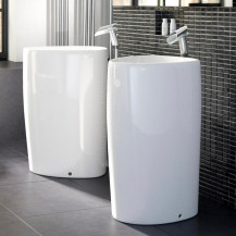 Garda White Ceramic Free Standing Basin