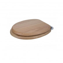 Flexi Fix Rutland Solid Oak Soft Close Toilet Seat