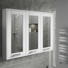 Nottingham White 90cm 3 Door Mirror Cabinet