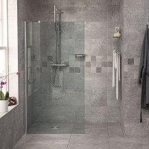 Reversible 1850 x 1200 Wet Room Shower Screen