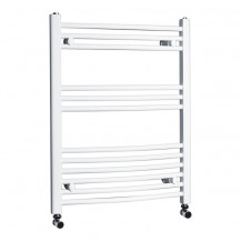 Beta Heat Electric 760 x 600mm Curved White Heated Towel Rail