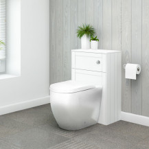 Nottingham White WC Unit and Venus Back to Wall Toilet