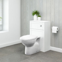 Nottingham White WC Unit with Sofia Back to Wall Toilet