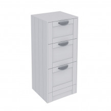Nottingham White 3 Drawer Storage Unit