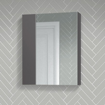 Atlanta 600mm Grey Gloss Mirror Cabinet