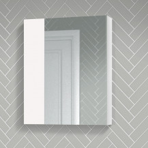 Atlanta 600mm White Gloss Mirror Cabinet