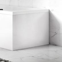 Austin White Gloss L-Shaped End Bath Panel