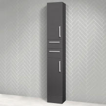 Austin 300mm Grey Gloss Tall Storage Unit