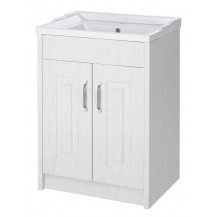 Premier York White Ash 600mm 2 Door Vanity Unit