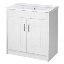 Premier York White Ash 800mm 2 Door Vanity Unit
