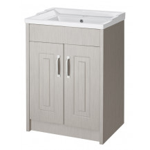 Premier York Stone Grey 600mm 2 Door Vanity Unit