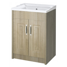 Premier York Gladstone Oak 600mm 2 Door Vanity Unit