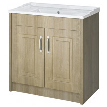 Premier York Gladstone Oak 800mm 2 Door Vanity Unit