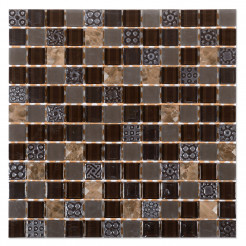 Nassau Brown Wall Mosaic
