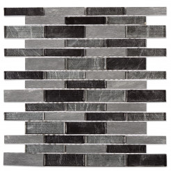 Java Black Wall Mosaic