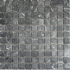 Thorus Black Wall/Floor Mosaic Tile