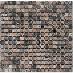 Marble Brown & Metal Wall Mosaic