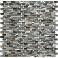 CL Dahli Grey Brick Wall Mosaic