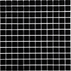 Black Glass Wall Mosaic