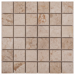 Chenab Cream Polished Marble Wall Mosaic