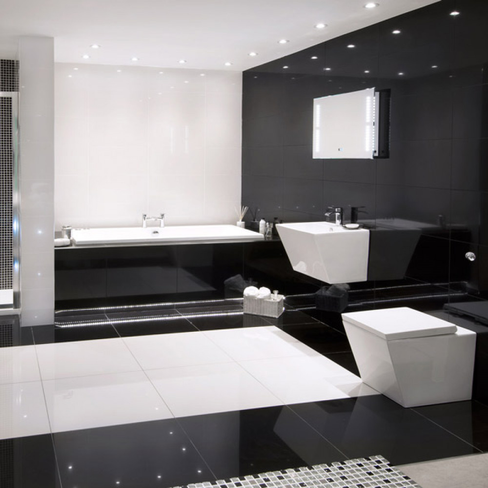 Absolute black polished porcelain wallfloor tile dailygadgetfo Gallery
