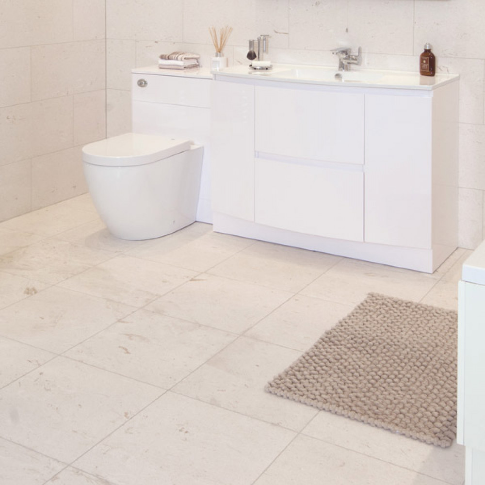 cream bathroom floor tiles honed marble tile 17993