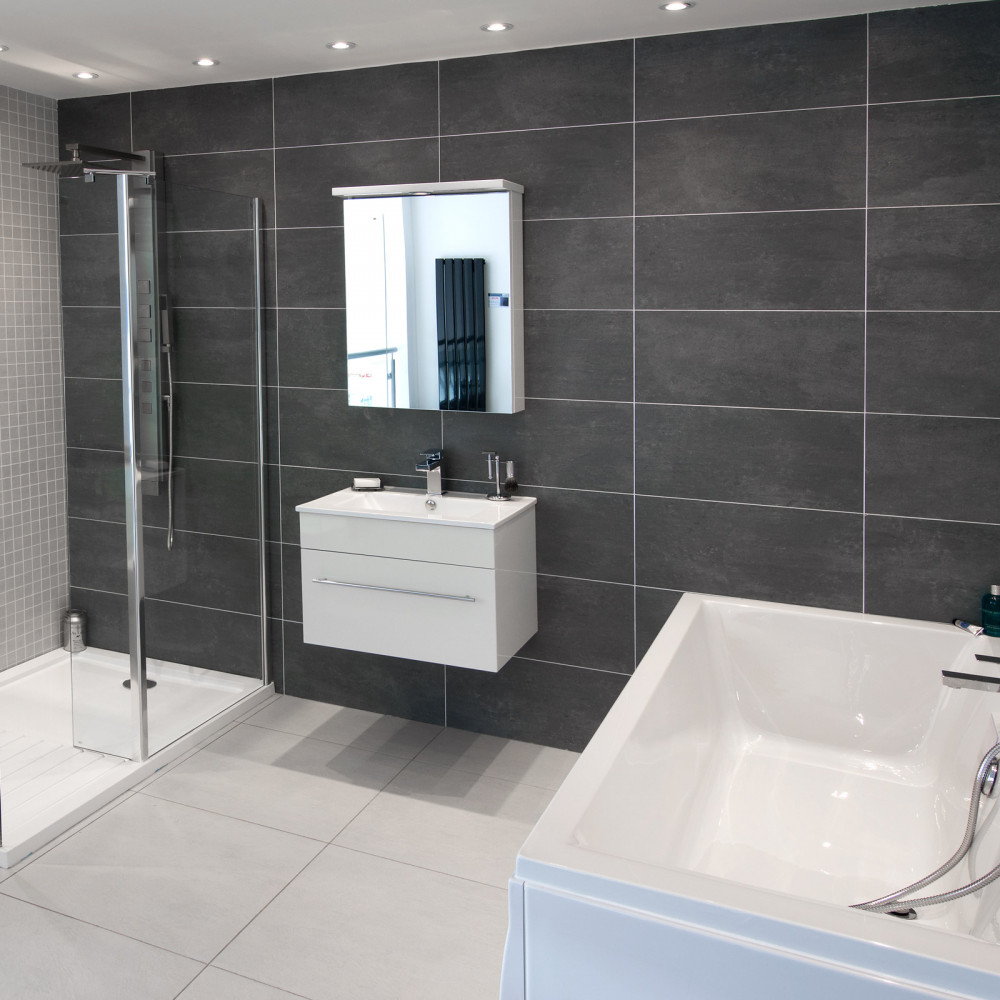 bathrooms grey tiles cementi grey porcelain wall floor tile 11989