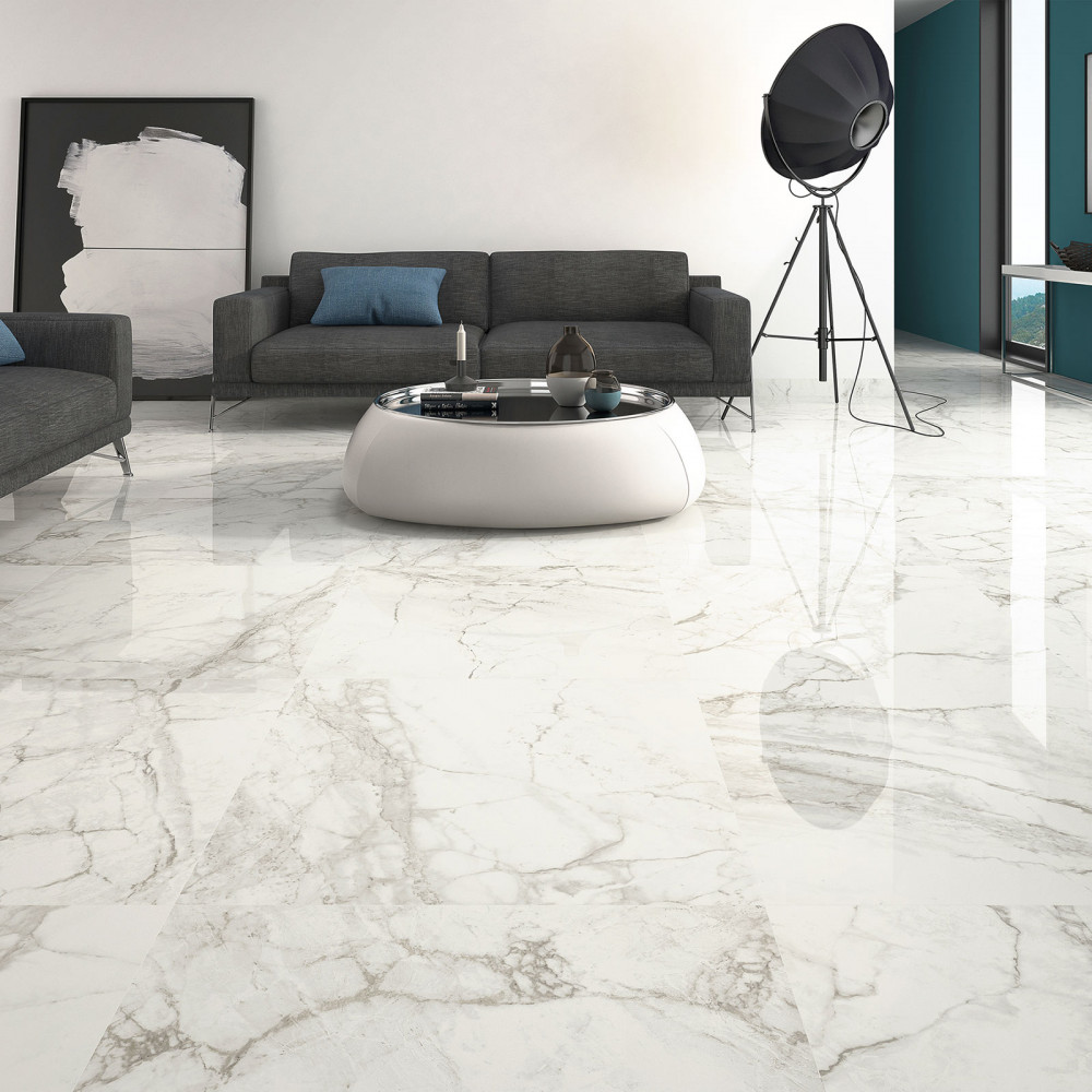 Large Format Luni Blanco Polished Porcelain Rectified