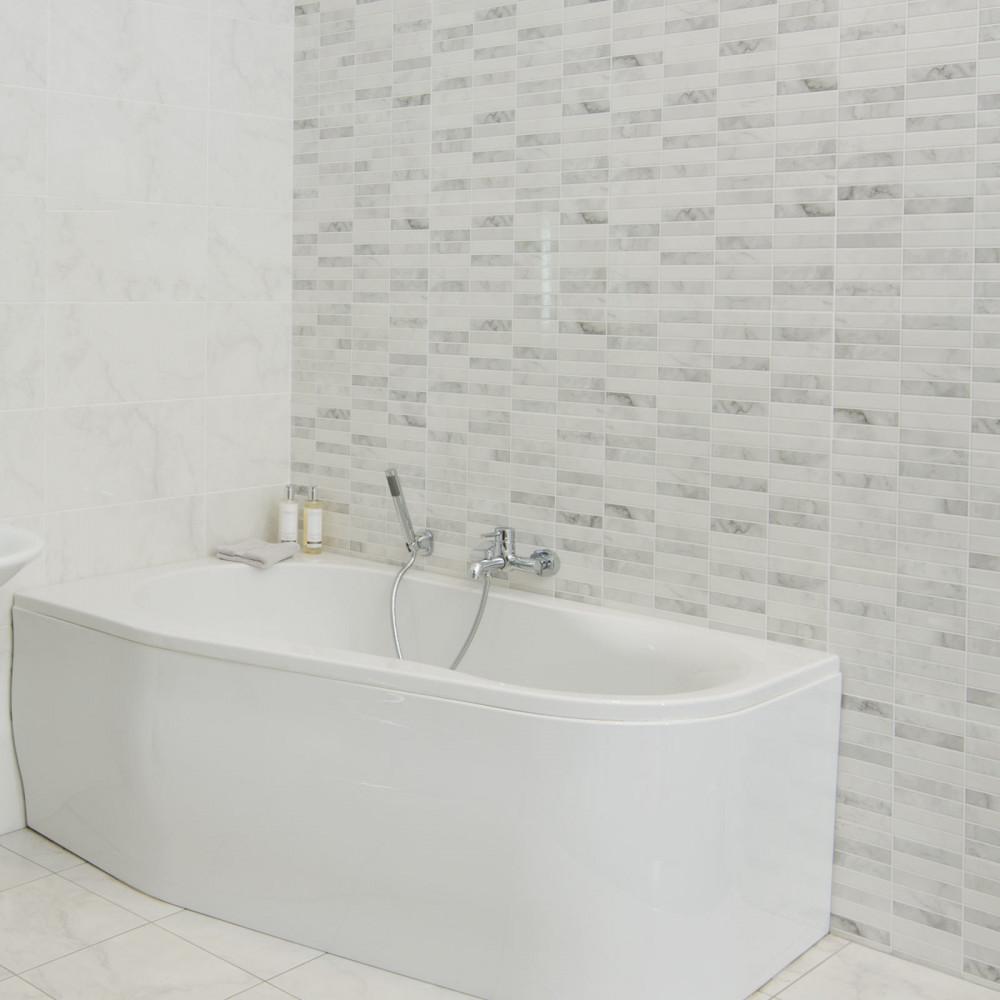carrara brillo pre scored wall tile. Black Bedroom Furniture Sets. Home Design Ideas