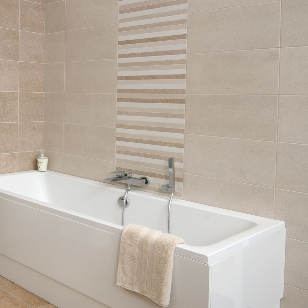 How To Do Wall Tile In Bathroom: Bucsy Beige Wall Tile