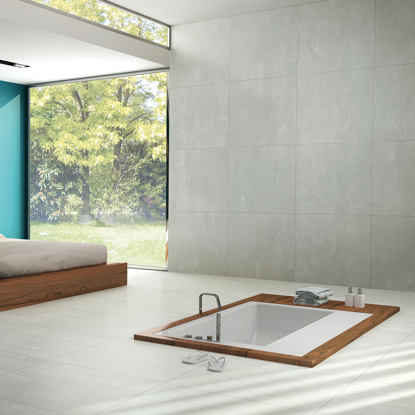 Cementi Light Grey Porcelain Wall Floor Tile