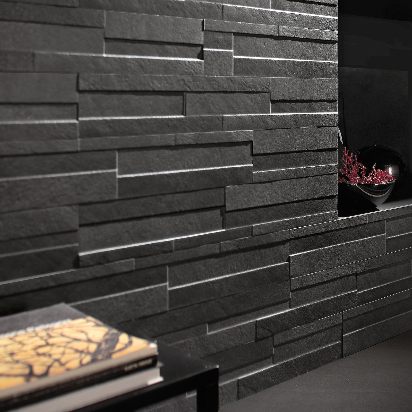Ego Coal Brick Effect Wall Tile