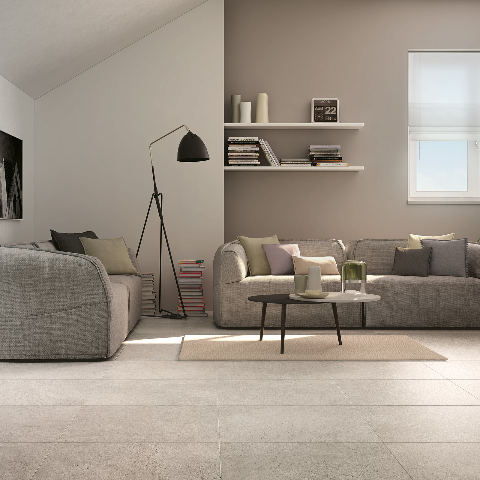 Season white glazed porcelain non slip floor tile for 100 floors seasons floor 9
