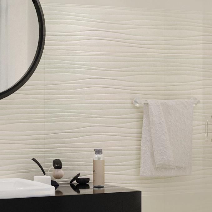 Magic beige wave d cor wall tile Bathroom tiles design catalog