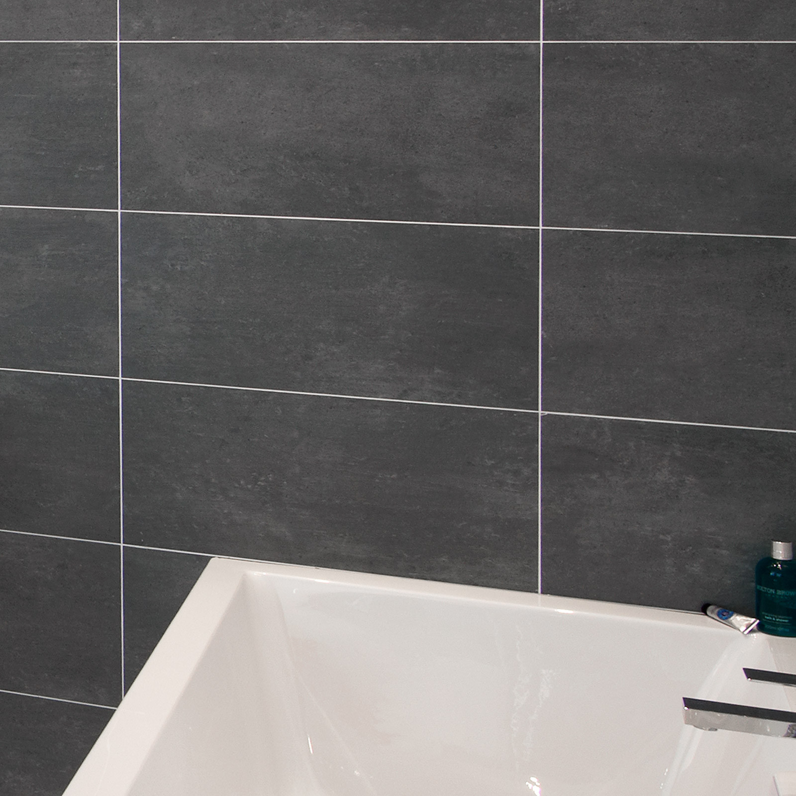 Cementi Dark Grey Porcelain Wall Floor Tile