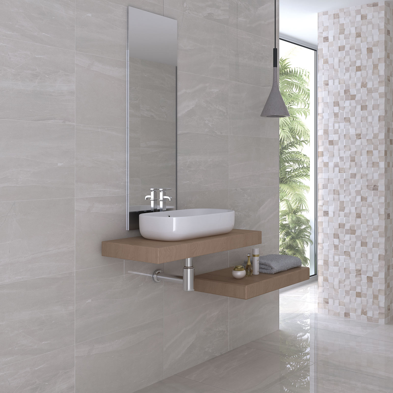 How To Do Wall Tile In Bathroom: Atrium Kios Perla Glazed Porcelain Wall Tile