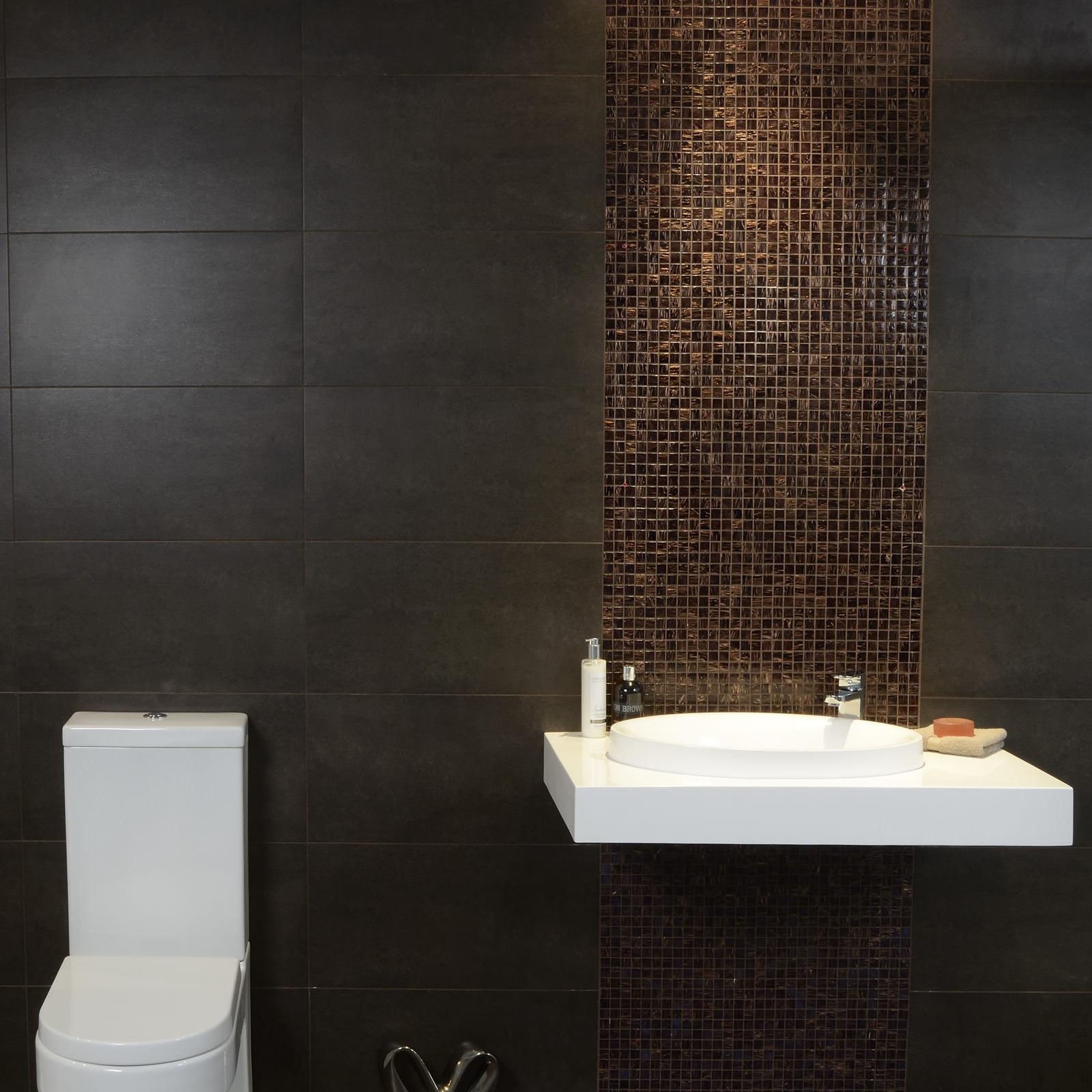 Epsilon mocha wall floor tile for Mocha bathroom ideas