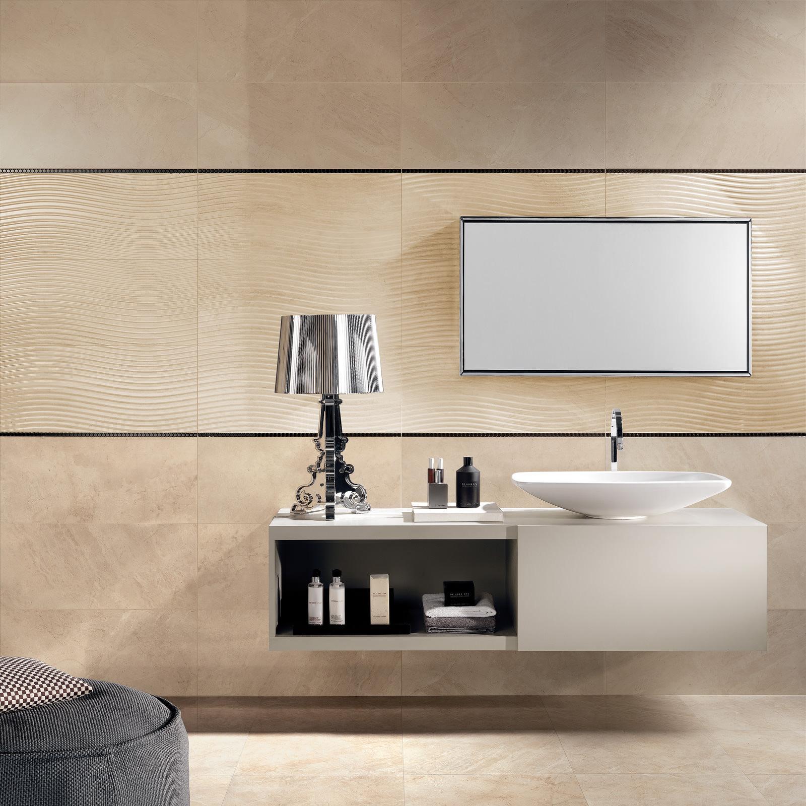 marmo d bianco onda travertine effect wall tile. Black Bedroom Furniture Sets. Home Design Ideas