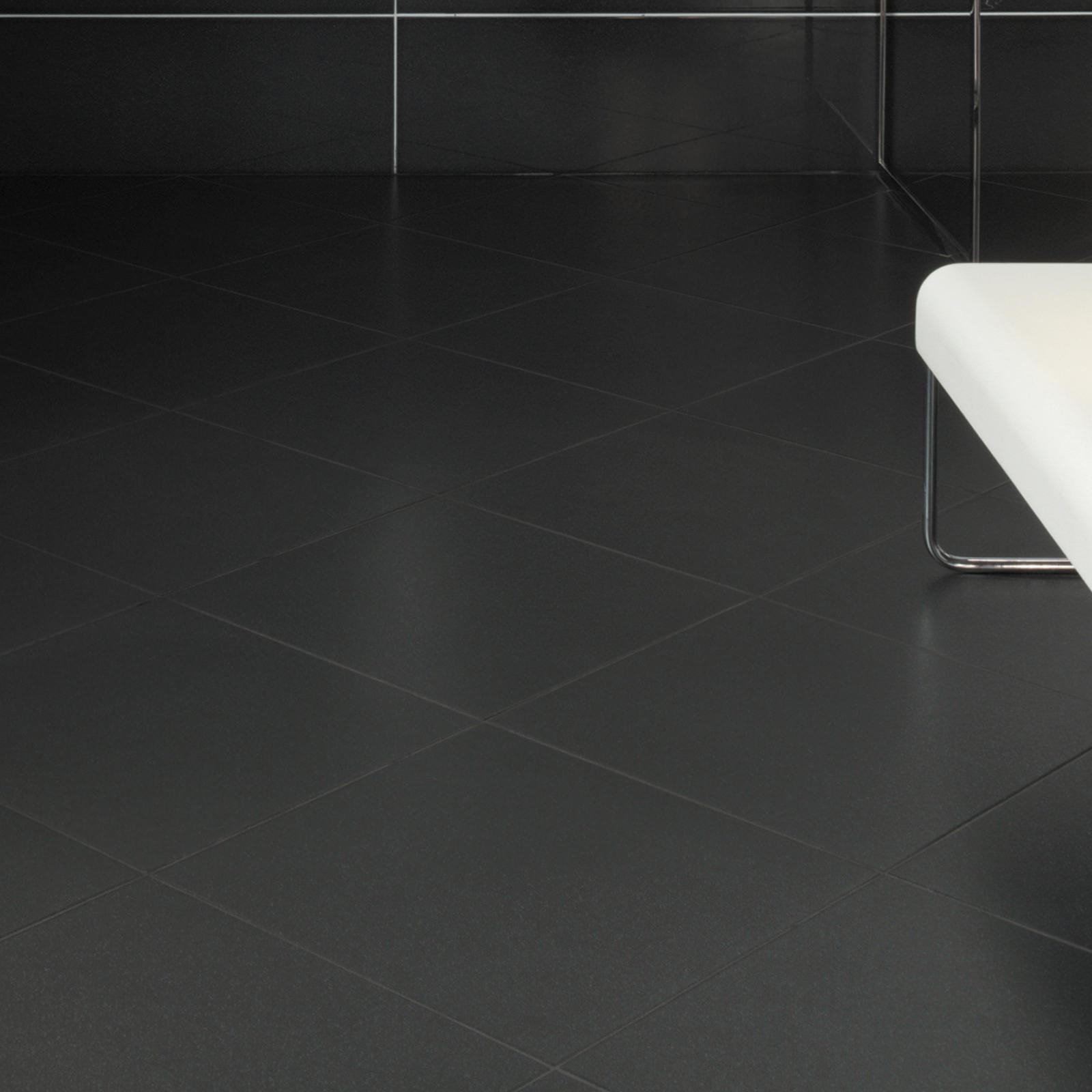 Rays Black Wall Floor Tile