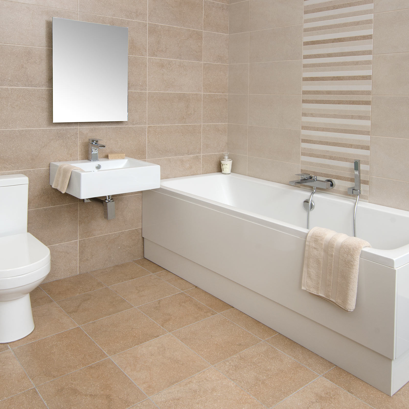 Best Way To Clean Bathroom Wall Tiles: Bucsy Beige Wall Tile