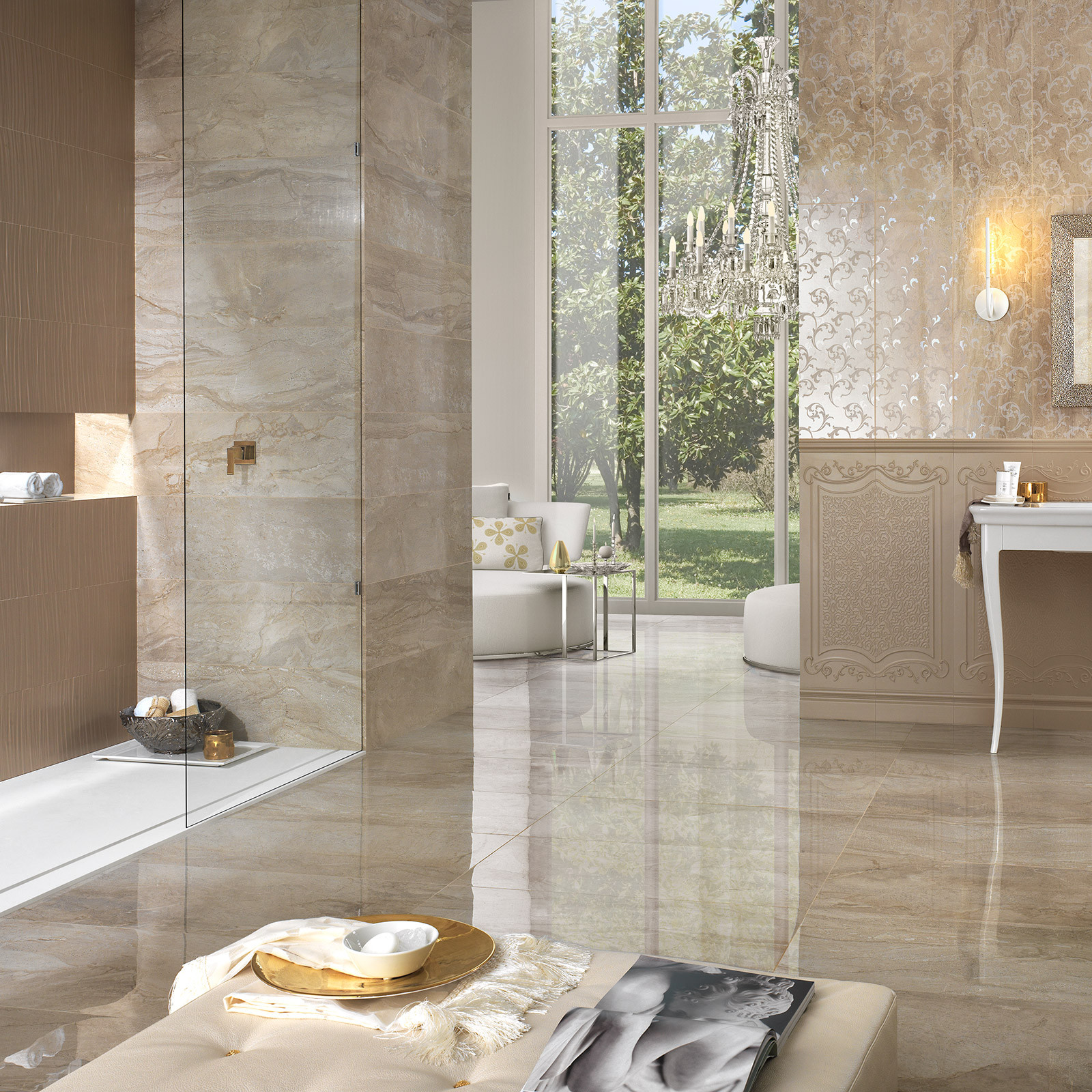 Wall Tile For Bathrooms: Marmi Daino Reale Rectified Wall Tile