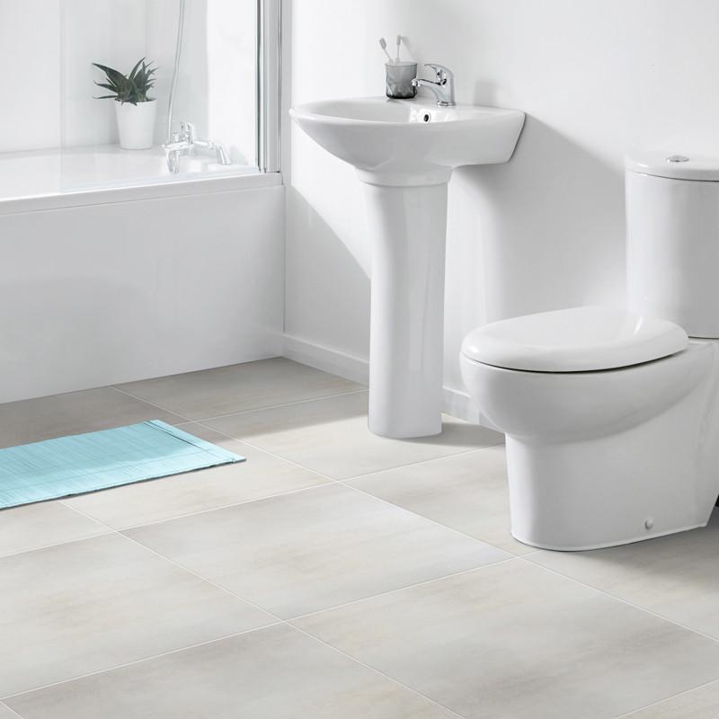 Shanon White Glazed Porcelain Floor Tile