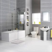 L Shaped Shower Bath Suites