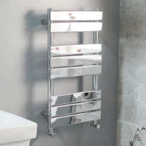 Heated towel rails traditional modern designer towel for Small slim radiators