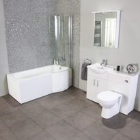 P Shape Shower Bath Suites