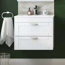 White Wall Hung Vanity Units