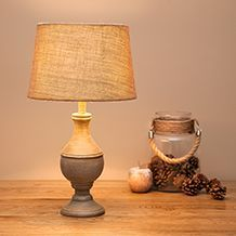 Wooden & Natural Table Lamps